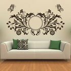 Floral Butterfly Header Wall Sticker Decorative Wall Decal Art