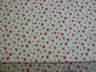 Ditsy small Pink & Red flower Fabric 100% cotton  Shabby chic / by the metre