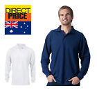 MENS POLO SHIRT LONG BUSINESS WHITE CASUAL GOLF KNIT UNISEX SLEEVE SPORT DRY