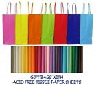 PARTY GIFT BAGS x 35 - WITH TISSUE PAPER - BIRTHDAY/WEDDINGS/CHRISTENINGS