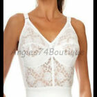 Naturana 8000  Ladies Long Line Bra 36  - 48 B C D DD White/Black Shapewear