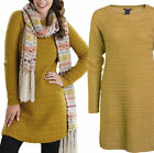 WOMANS LADIES PLUS SIZE GOLDEN KNITTED LONG JUMPER 16 18 20 22 24 26 28 30