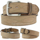 "Wolverine Leather Belt Men's 1 1/2"" Figure Eight Stitch WV7656 Harness Buckle"