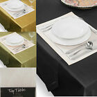 Cameron Faux Silk Quality Oblong Plain Kitchen Dining Table Cloth