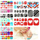 22PCS Nail Art 3D Glitter Tips Decals Toe Stickers Foils Decoration Pedicure Set