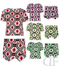 NEW LADIES WOMENS DIAMOND PRINT PARTY TOP AND SKORT TWO PIECE (SIZES 8-14)
