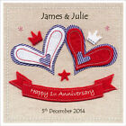 Personalised WEDDING ANNIVERSARY Card, Any Year 1st 2nd 5th 10th 15th 20th 25th