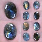 30mm & 40mm Labradorite oval focal flatback cab cabochon 1.2 to 1.6""