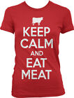 Keep Calm And Eat Meat - Carnivore Paleo Diet Vegetarian Girls Junior T-Shirt