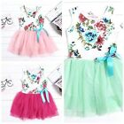 Hot Baby Girls Clothes Kids Toddlers Tulle Bow Floral Princess Tutu Dress 6M-3Y