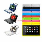7 Android 4.4 A33 Quad Core Dual Camera 16GB Tablet PC & 7 Keyboard for Kids