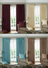 Luxury Jacquard Tape Headed Ready Made Lined Curtain Solid, Window Curtains
