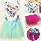 Baby Girls Clothes Toddlers Tulle Sleeveless Retro Floral Tutu Vest Dress 6M-3Y