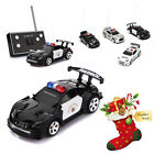 Mini Radio Remote Control RC Police Car Toy LED Light For Kid Christmas Gift