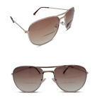 Bifocal Aviator Pilot Designer Sunglasses Tinted Sun Readers Gold 100% UV400 402