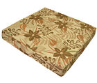 wf06t Olive Beige Khaki Orange Brown Flower Cotton 3D Box Seat Cushion Cover