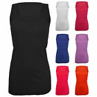 New Ladies Women Rib Plain Sleeveless Scoop Neck Vest Tank Top Plus size 14-28