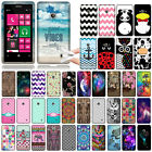 For Nokia Lumia 521 Owl TPU SILICONE Soft Rubber Flexible Slim Back Case Cover