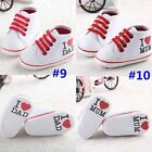 Lace up baby shoes boys girls unisex anti-slip size 0-18 months toddlers love