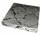 mq06t Silver Black Ash Grey Rose Shimmer Velvet 3D Box Sofa Seat Cushion Cover