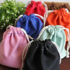 5 X Cotton/Linen Bags Handmade Drawstring Storage Laundry Sock Underwear Pouch
