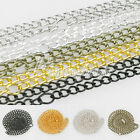 """Fashion 3mm 4.5mm Curb Chain Jewelry Making Jewelry Necklace 50cm/20"""" 5 Colors"""