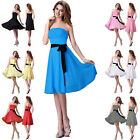 Formal Evening Long Gown Party Prom Ball Bridesmaid Dress Size 6 8 10 12 14 16