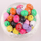 New hot sale 50pcs mixed colour acrylic Pattern spacer beads 13x10mm