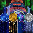 3M 6M 300LED Curtain Fairy String Light Christmas Garden Party Wedding Waterfall