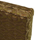 we62t Brown Damask Check Chenille 3D Box Shape Sofa Seat Cushion Cover*Cus-Size