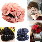 BEAUTY WOMENS GRACEFUL CHIFFON ROSE FLOWER BOW JAW CLIP BARRETTE HAIR CLAW GIFT