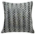 ms02a Grey Ash Silver Shimmer Silver Starlight Sequin Decorative Cushion Cover