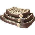ME & MY BROWN CHECK DOG/PUPPY/PET BED LUXURY/COMFY S/M/L SMALL/MEDIUM/LARGE