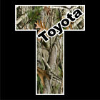 Toyota Camo Vinyl Decal Tacoma Tundra Truck window sticker racing 4x4