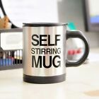 Novelty Stainless Steel Lazy Self Stirring Auto Mixing Coffee Mug Tea Cup Gift