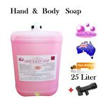 Hand & Body Soap Liquid With Glycerine Rose Perfume Coconut Oil Pink White 25 Lt