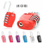 Multicolor 4 Dial TSA Combination Padlock Resettable Luggage Travel Lock