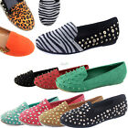 Women Fashion Spike Stud Comfortable Ballet Flat Loafers Charms Round Toe Shoes