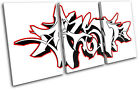 Abstract Graffiti TREBLE CANVAS WALL ART Picture Print VA