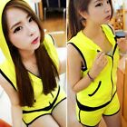 Sleeveless Zip Up Hooded Top Shorts Pockets Tracksuit Athletic Suit Women Vogue