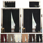Jacquard TAPE TOP Curtain Ready Made Lined With Tie Backs Swirl Curtains