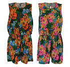 New Ladies Women Summer Print Shorts All In One PlaySuit  Plus Size 16-26