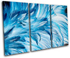 Feathers Wildlife Abstract TREBLE CANVAS WALL ART Picture Print VA