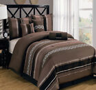 Claudia Coffee 11-Piece Luxury Comforter Set w/ optional matching curtains