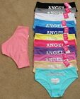 Lot 1 6 OR 12 PCS Angel Love Rainbow Multi-Color Cotton Hi-Cuts Bikini Panty S/L