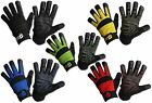 Mechanics Work Gloves Synthetic Leather Grip Air Mesh Washable XS S M L XL XXL