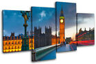 London Big Ben City MULTI CANVAS WALL ART Picture Print VA