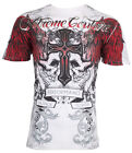 Xtreme Couture AFFLICTION Mens T-Shirt CARNIVORE Skulls Tattoo Biker MMA UFC $40