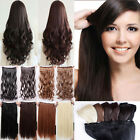 Premium Brown Blonde Red clip in on hair extensions high quality heat resistant