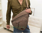 Men's High Capacity Canvas Hiking Cross Body Messenger Backpack Sling Chest Bag
